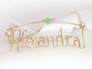 Anklet Necklace Personalized Name