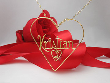Name in the Heart pendant