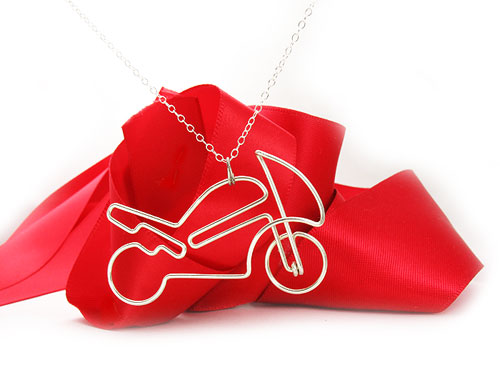 Sport Bike Motorcycle Streetfighter - Pendant with necklace. * Click & Order