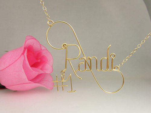 No1_gold_necklace-#1-pendant-charm
