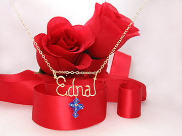 Necklace with cross charm