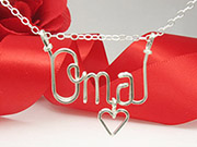 Silver Personalized Necklace wire Jewelry