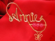 Gold Personalized Wire Brooch Jewelry Pin