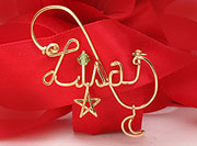 Gold Personalized Pin Brooch wire Jewelry
