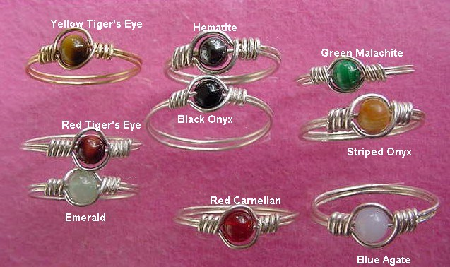 SINGLE BEADED RINGS