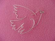 Blue Dove Pin