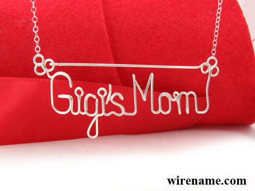 Tow Name Necklace in silver wire