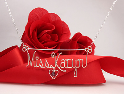 2 name necklace