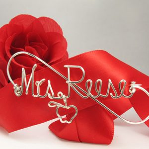 Personalized wire names pin