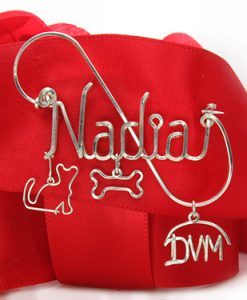 Personalized wire name pin