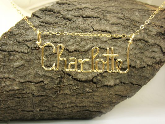personalized wire name necklace jewelry