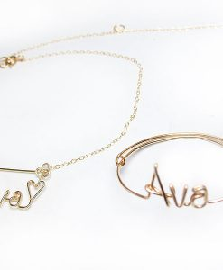 Personalized Toddler Baby Child Kids wire name bracelet anklet