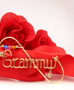 Personalized wire name scarf lapel stick pin brooch