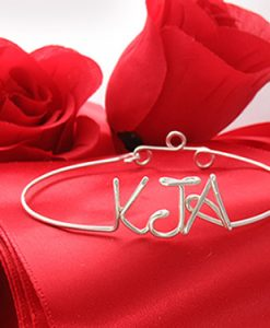 Personalized wire name bracelet anklet