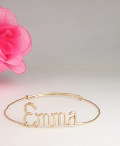 Personalized wire baby bracelet anklet