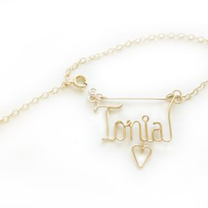 Personalized gold silver wire name anklet