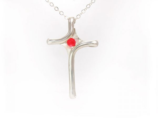 Crosses- silver and gold wire