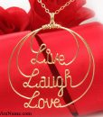 Live-Laugh-Love-wire-jewelry-Necklace-V