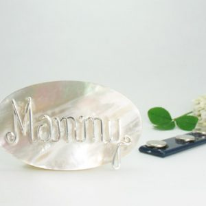 Mother of Pearl Brooch, Lapel Pin, personalized wire Jewelry