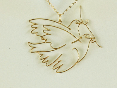 pin turtle dove beautiful necklace heart engraved