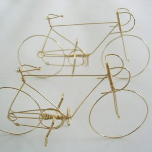 Bicycle is handmade from a single piece of wire, 2