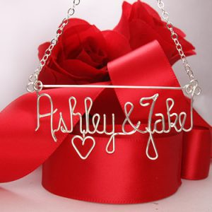 Personalized wire name anklet