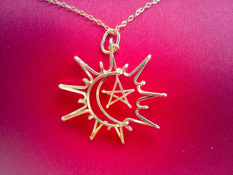 Sun Moon Star Necklace In Silver Or Gold Wirename Com