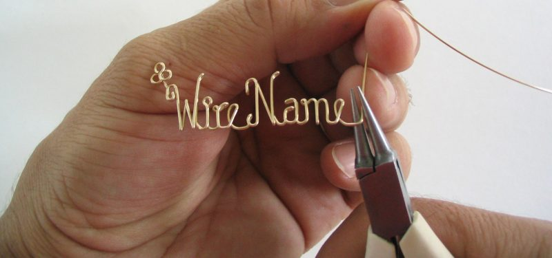 handmade jewelry, how made personalized wire name jewelry