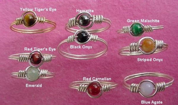 Ring in silver or gold wire, Crystal beads Spiral Wire Ring, Ring Double wire Ring, Healing Reiki Ring Magical Ring, Finger Ring