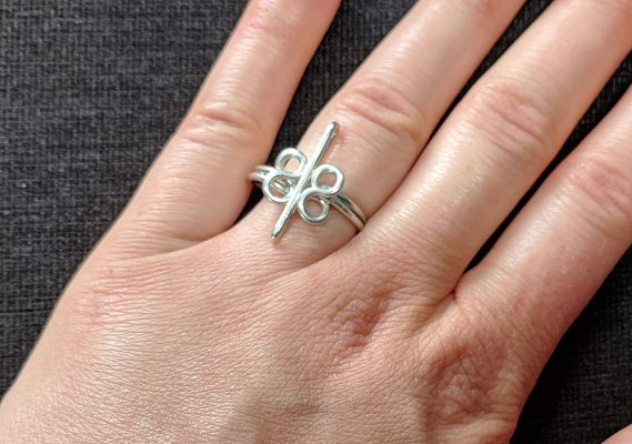 Heavy Silver wire Ring - infinity, Sterling Silver Braided Ring,solid silver band, Midi Ring, infinity ring, promise ring