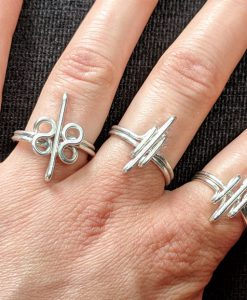 Heavy Silver Rings - 3 lines