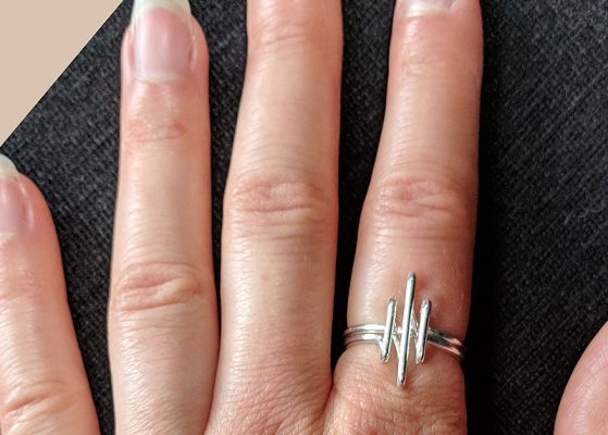Heavy Silver wire Ring - 3 parallel lines - ||| Roman