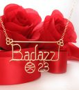 Basketball-charm-23- number-pendant-wire-gold-necklace-777