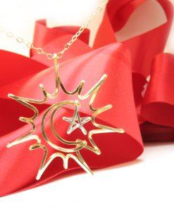 Sun-Moon-silver-Star-gold-necklace